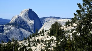 A New View of the World - Yosemite's Half Dome from the East