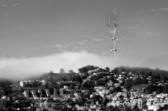 Sutro Tower to the west
