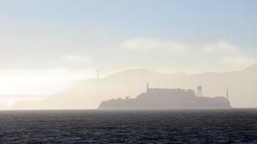 Everyday Alcatraz made extraordinary by fog.