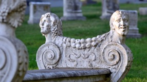 Ornate Bench - Cypress Lawn Cemetery, Colma, CA