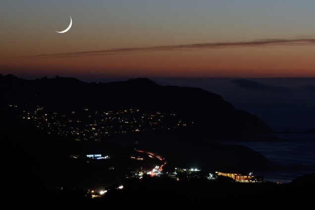 Moon Over Pedro Point, Pacifica, CA