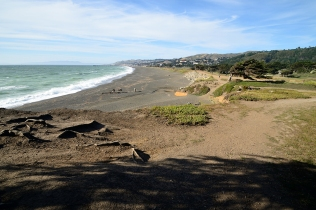 Sharp Park Beach from Mori Point
