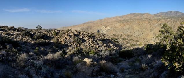 High desert above Palm Springs