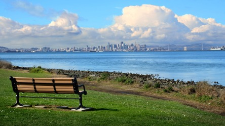Front row seat. Alameda, CA.