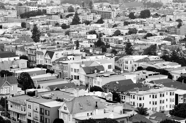 Upper Market neighborhood from Corona Heights, San Francisco, CA